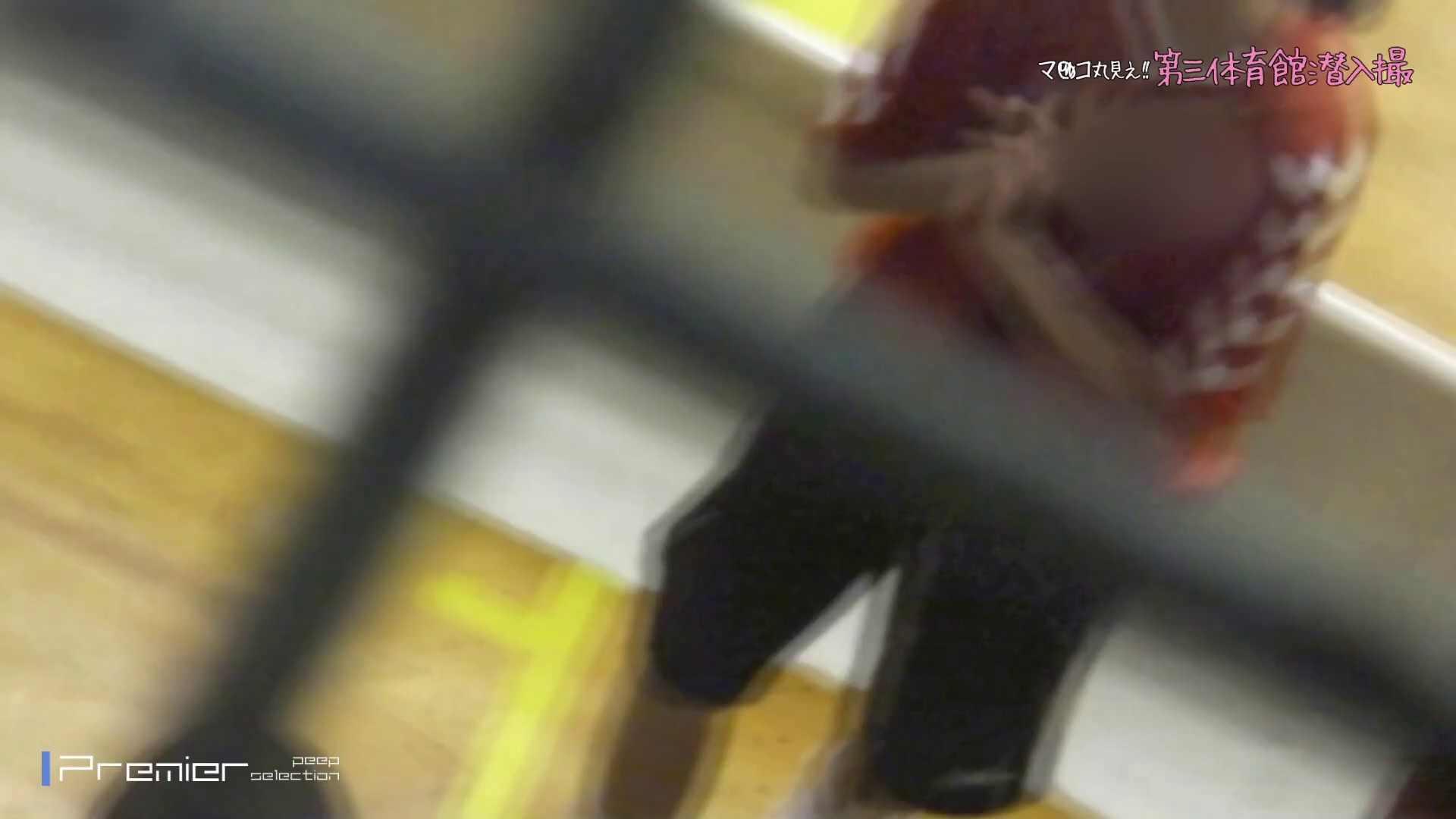 ヤリマンのオマンコ:マンコ丸見え!体育館潜入撮 軌跡1:怪盗ジョーカー
