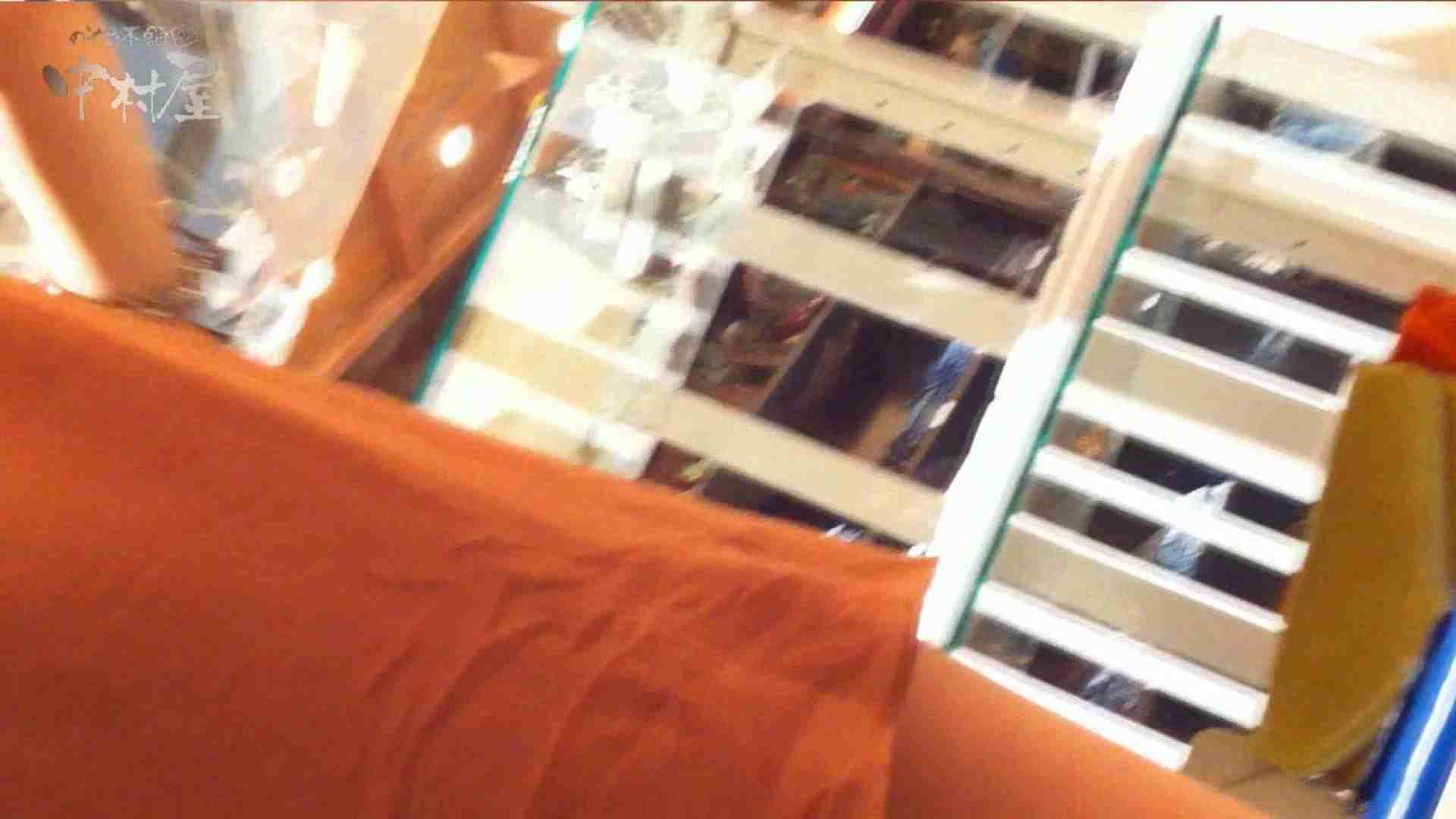 ヤリマンのオマンコ:vol.75 美人アパレル胸チラ&パンチラ きれいな髪のおねーさんはド派手パンツ:のぞき本舗 中村屋