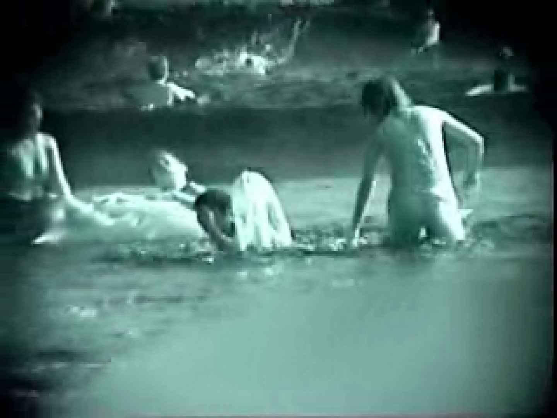 ヤリマンのオマンコ:赤外線! 浜辺のスケスケ水着ギャル:のぞき本舗 中村屋